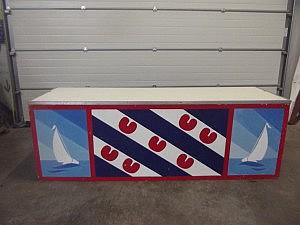balie 07 + 08 zeilboot en friese vlagk