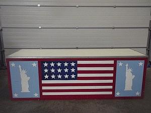 balie 11 amerikaansevlag en vrijheidsbeeldk