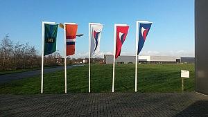 Nederlandse paal en paal vlag met wimpel (k)