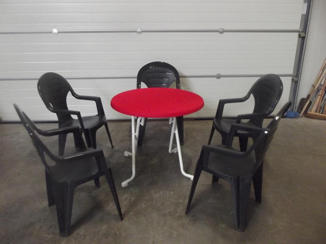 Tafels stoelen tenten verlichting verwarming drachten